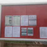 Northwalls Grange notice board owned by DWH