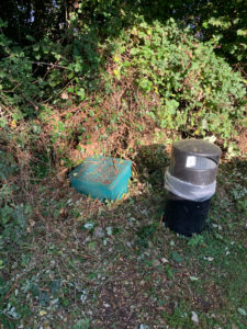 Grit bin by Cheddon Lawns