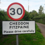 Village nameplate Maidenbrook Lane