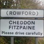 Village nameplate Rowford